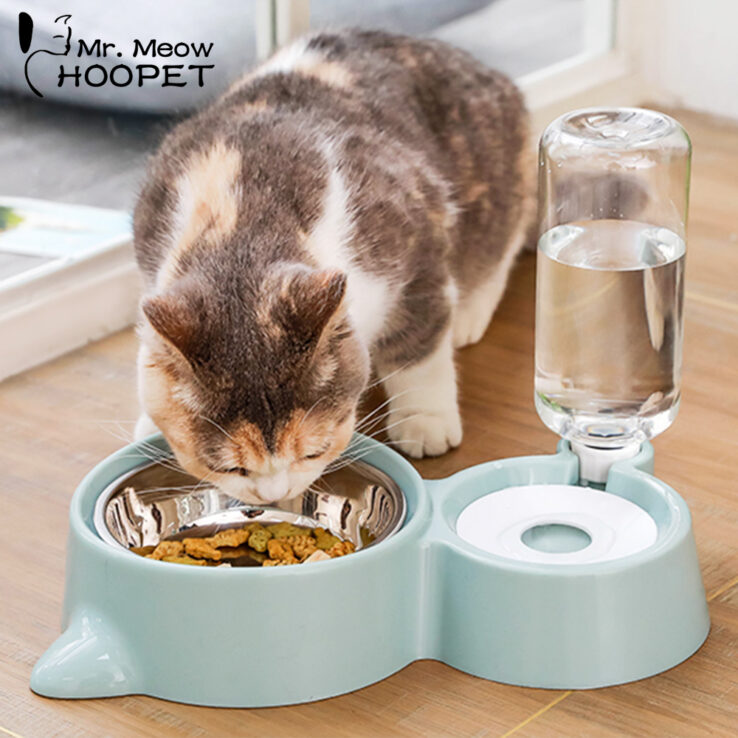 Pet Drinking Fountain Feeder Set